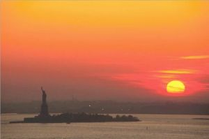 New York sunset, from Google Images